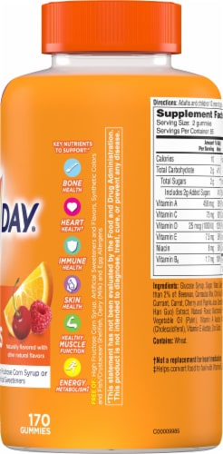 One A Day Women's VitaCraves Multivitamin Gummies Perspective: right