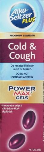Alka-Seltzer Plus Maximum Strength Cold & Cough PowerMax Liquid Gels Perspective: right