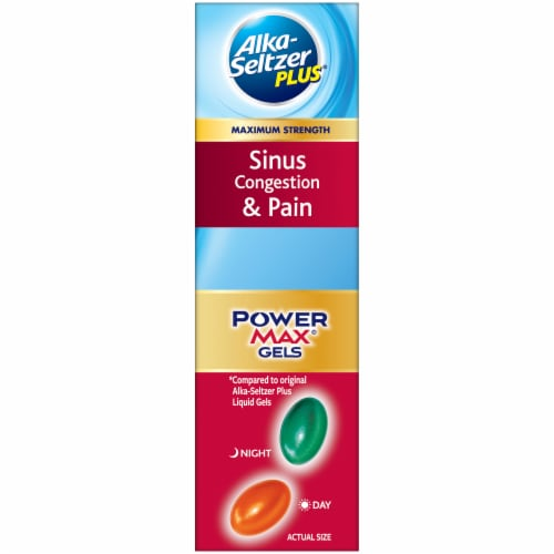 Alka-Seltzer Plus Sinus & Cold Day & Night PowerMax Gels Perspective: right