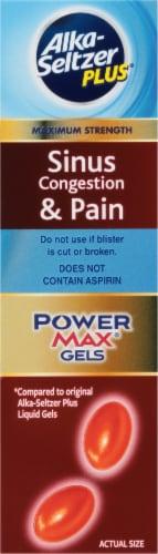 Alka-Seltzer Plus Sinus & Cold PowerMax Gels Perspective: right