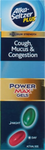Alka Seltzer Plus® Day and Night Cough Mucus & Congestion Power Max Liquid Gels Perspective: right