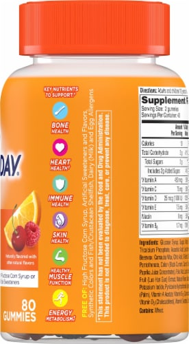 One A Day VitaCraves Women's Multivitamin Gummies Perspective: right