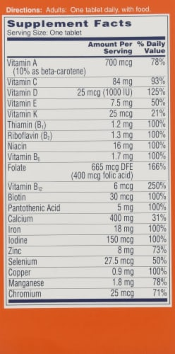 One A Day Women's Complete Multivitamin Tablets Perspective: right