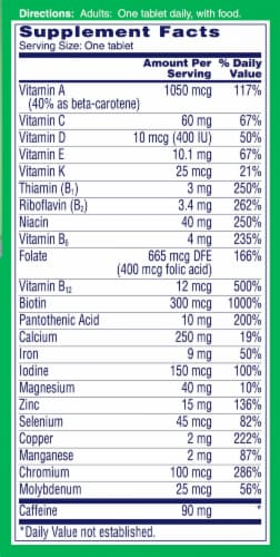 One A Day® Energy Multivitamin Tablets Perspective: right