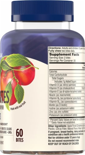 One A Day Men's Multivitamin Fruit Bites Perspective: right