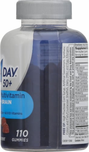 One A Day® Men's 50+ Advanced Multivitamin Gummies Perspective: right