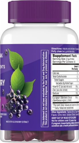 One A Day Elderberry Gummies with Immunity Support Perspective: right