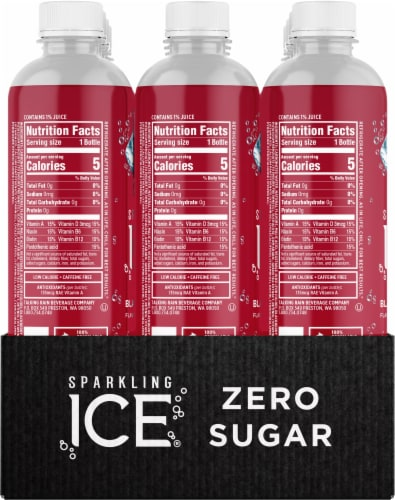 Sparkling Ice Black Raspberry Sparkling Water Perspective: right