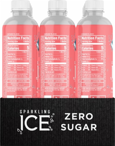 Sparkling Ice Pink Grapefruit Spring Water Perspective: right