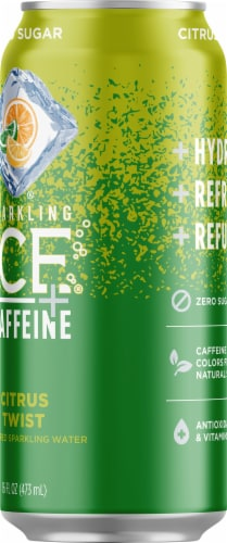 Sparkling Ice + Caffeine Triple Citrus Sparkling Water Perspective: right