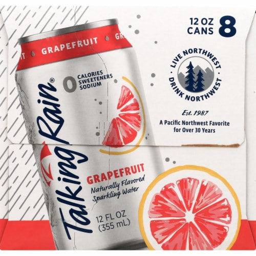 Talking Rain Grapefruit Sparkling Water Perspective: right