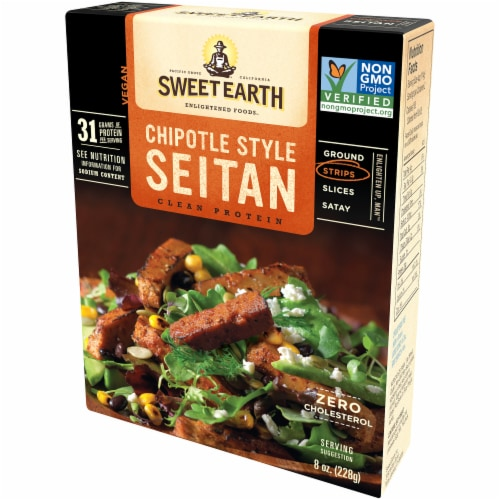 Sweet Earth Chipotle Style Seitan Strips Perspective: right