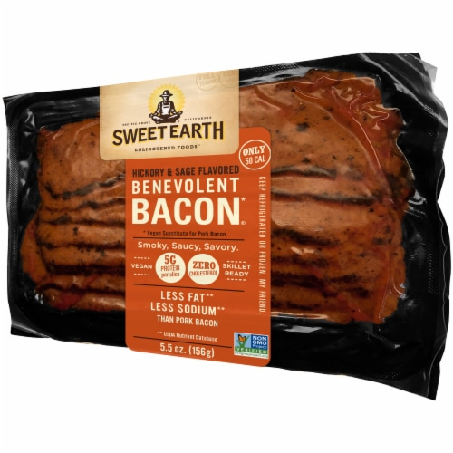 Sweet Earth Natural Foods Vegan Hickory & Sage Smoked Seitan Bacon Perspective: right