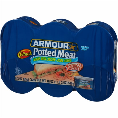 Armour Potted Meat 6 Count Perspective: right