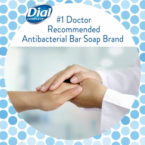 Dial White Antibacterial Deodorant Soap Bars Perspective: right