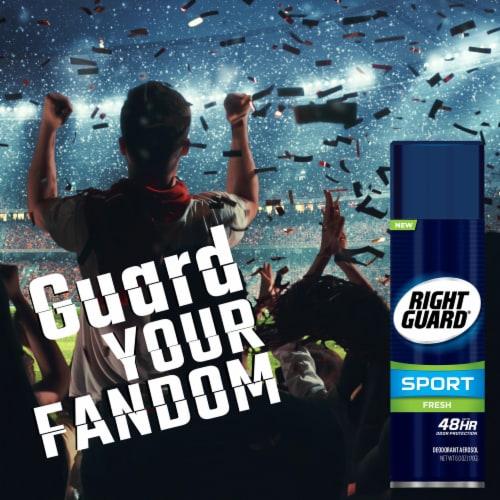 Right Guard® Sport Aerosol Fresh Deodorant Perspective: right