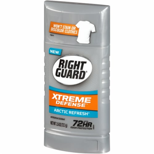 Right Guard Xtreme Defense Arctic Refresh Antiperspirant Stick Perspective: right