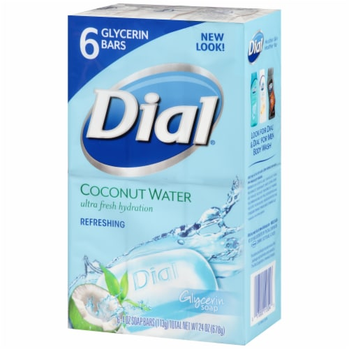 Dial Coconut Water Ultra Fresh Hydration Refreshing Bar Soap Perspective: right