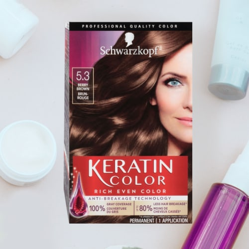 Schwarzkopf Keratin Color Berry Brown 5.3 Hair Color Perspective: right