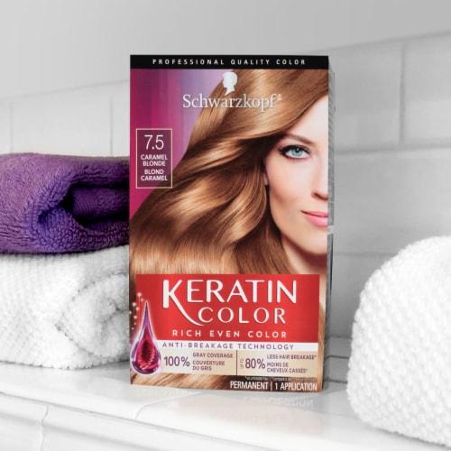 Schwarzkopf Keratin Color Caramel Blonde 7.5 Hair Color Perspective: right