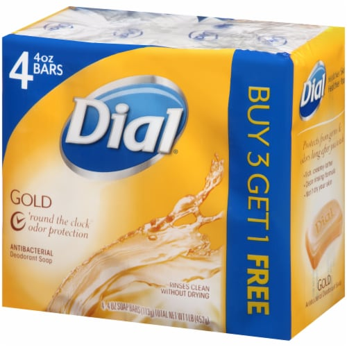 Dial Gold Antibacterial Deodorant Soap Bars Perspective: right