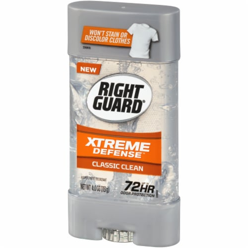 Right Guard Xtreme Defense Classic Clean Deodorant Perspective: right
