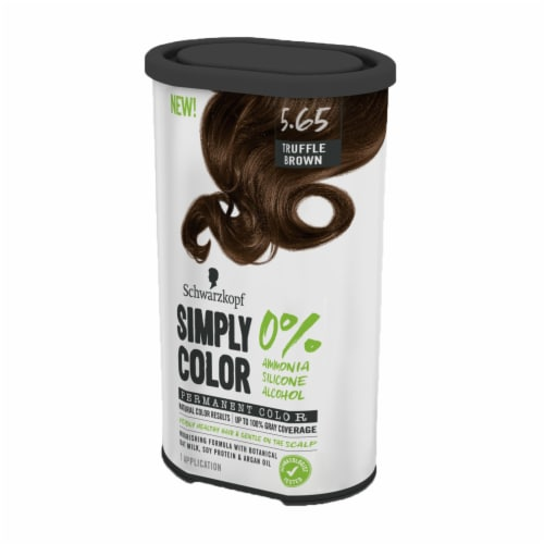 Schwarzkopf Simply Color 5.65 Truffle Brown Hair Color Kit Perspective: right