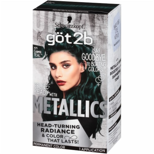 got2b Metallics M75 Cosmic Teal Hair Color Perspective: right