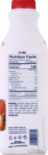 Lifeway Organic Low Fat Strawberry Kefir Perspective: right