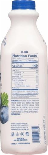 Lifeway Organic Kefir Low Fat Blueberry Milk Perspective: right