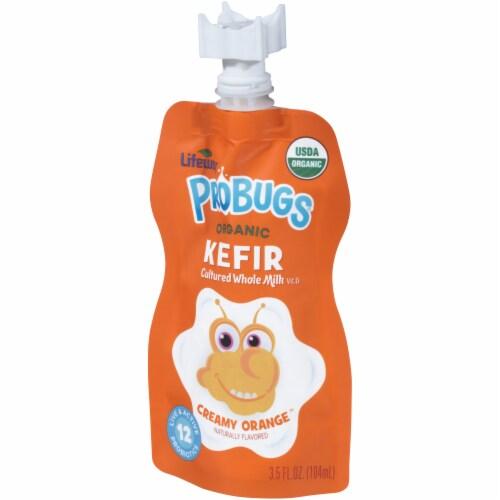Lifeway Probugs Organic Creamy Orange Kefir Perspective: right