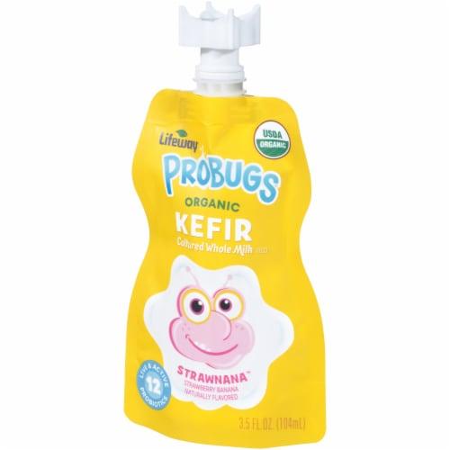 Lifeway Probugs Organic Strawnana Kefir Perspective: right
