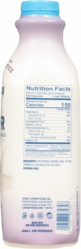 Lifeway Organic Plain Unsweetened Kefir Cultured Whole Milk Perspective: right