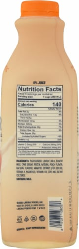 Lifeway Low Fat Peach Kefir Perspective: right