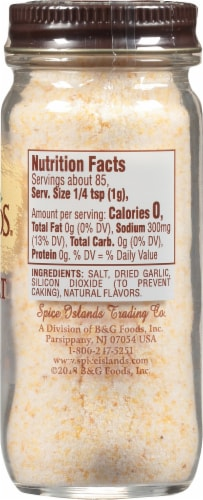 Spice Islands Garlic Salt Shaker Perspective: right