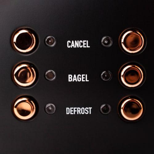 Haden Heritage 4-Slice Toaster - Black/Copper Perspective: right