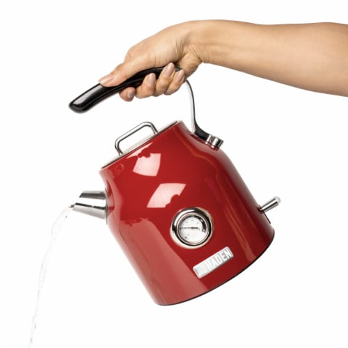 Haden Dorset Stainless Steel Cordless Electric Kettle - Red Perspective: right