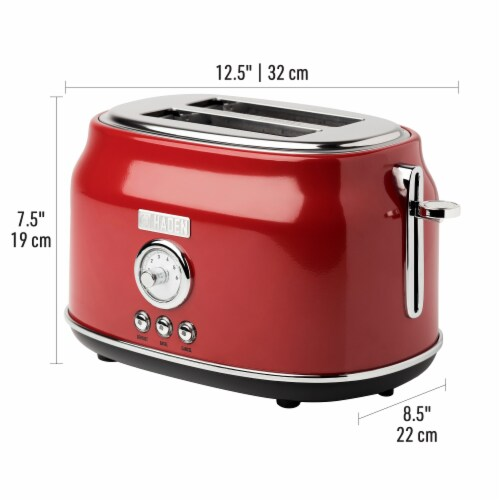 Haden Dorset Stainless Steel 2-Slice Toaster - Red Perspective: right