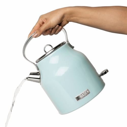 Haden Heritage Stainless Steel Cordless Electric Kettle - Turquoise Perspective: right