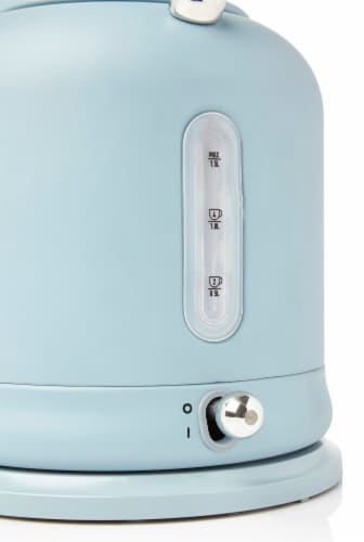 Haden Highclere Stainless Steel Cordless Electric Kettle - Poole Blue Perspective: right