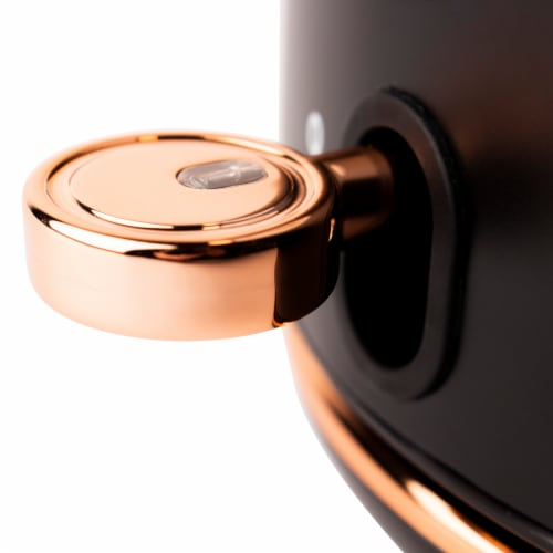 Haden Heritage Stainless Steel Electric Kettle - Black/Copper Perspective: right
