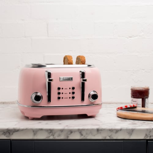 Haden Heritage 4-Slice Toaster - English Rose Perspective: right