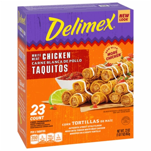 Delimex White Meat Chicken Corn Taquitos Perspective: right