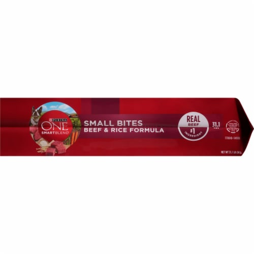 Purina ONE SmartBlend Small Bites Beef & Rice Adult Dry Dog Food Perspective: right