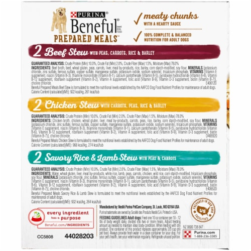 Beneful Prepared Meals Wet Dog Food Variety Pack Perspective: right