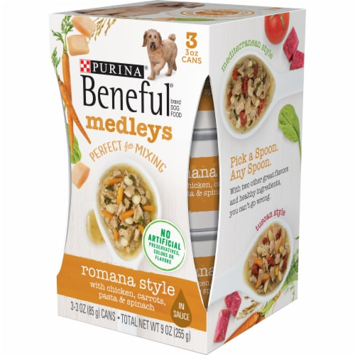 Beneful Medleys Romana Style Wet Dog Food Perspective: right