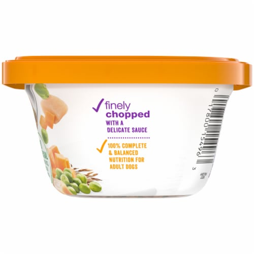 Beneful Chopped Blends with Chicken Carrots Peas & Wild Rice Wet Dog Food Perspective: right