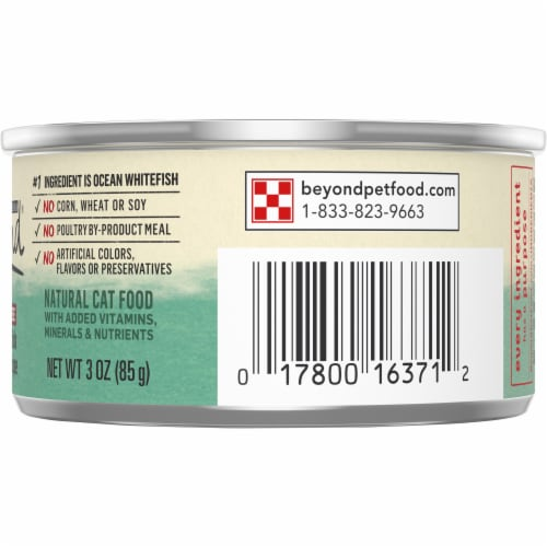 Beyond® Grain Free Ocean Whitefish & Spinach Recipe Pate Wet Cat Food Perspective: right