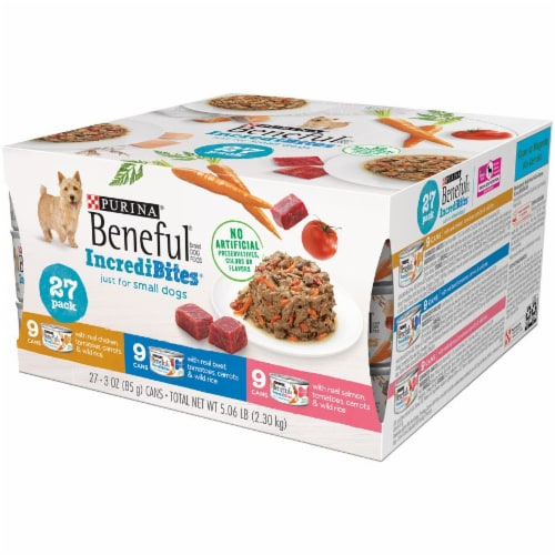 Beneful IncrediBites Small Breed Wet Dog Food Variety Pack Perspective: right
