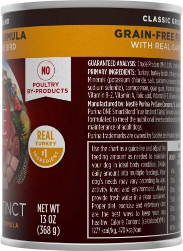 Purina ONE SmartBlend True Instinct Grain-Free Formula Real Gamebird Classic Ground Wet Dog Food Perspective: right